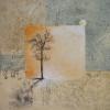 Fall Day I Mixed media and acrylic 24 x 24 in.