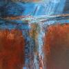 Rain I Mixed media and acrylic 9 x 12 in.