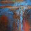 Rain II Mixed media and acrylic 9 x 12 in.