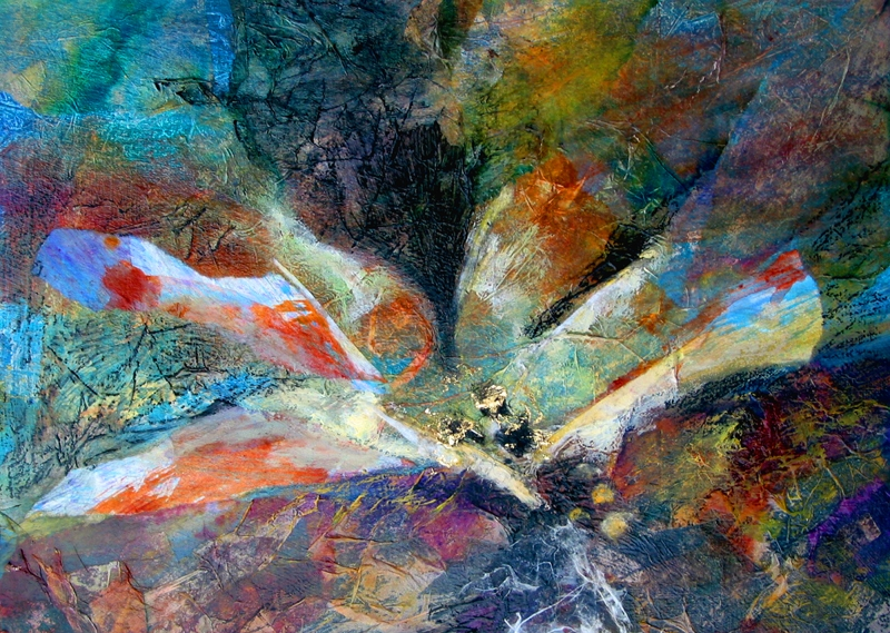 Doris Charest is an Alberta artist who specializes in Mixed Media Collage painting.